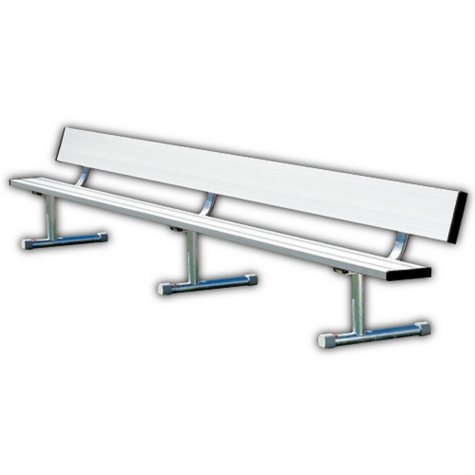 Alumagoal 15' Portable Bench with Back