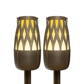 ION TAHITI Speaker Pair Solar Lantern-Style Outdoor Illuminated Speakers with Multi-Sync
