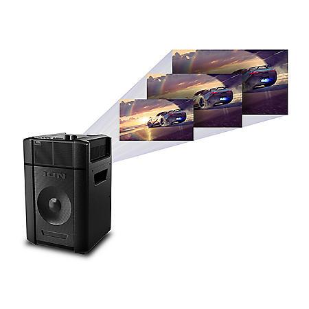 ION Projector Deluxe Speaker Battery/AC Powered Indoor/Outdoor Projector with Powerful Speaker