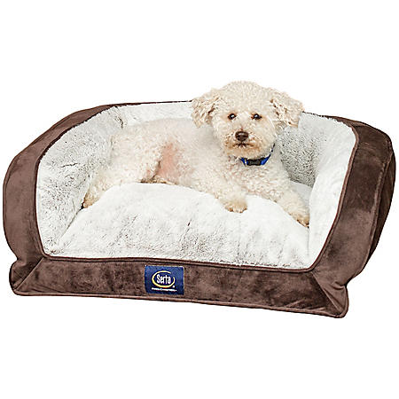 """Serta Perfect Sleeper Memory Foam Blend Couch Pet Bed, 24"""" x 20"""" (Choose Your Color)"""