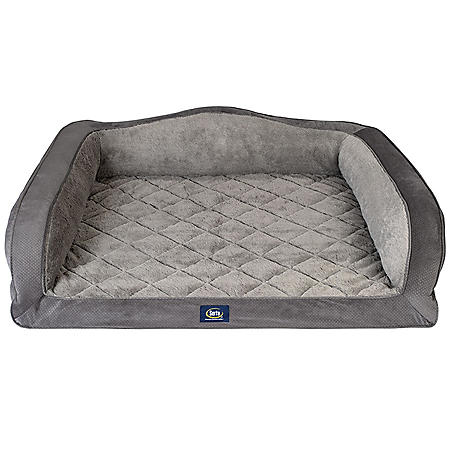 "Serta Perfect Sleeper Camel-Back Couch Pet Bed, 44"" x 36"" (Choose Your Color)"