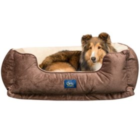 """Serta Perfect Sleeper Orthopedic Cuddler Pet Bed, 34"""" x 24"""" (Choose Your Color)"""