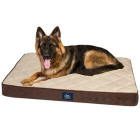 "Serta Perfect Sleeper Super PillowTop Pet Bed, 36"" x 27"" - Various Colors"