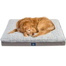 "Serta Perfect Sleeper XL Orthopedic Euro Top Pet Bed, 42"" x 30"" - Gray"