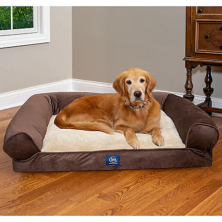 """Serta XL Round Bolster Couch Pet Bed 40""""x 30"""" (Choose Your Color)"""