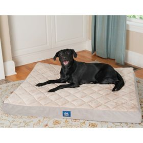 "Serta Orthopedic Quilted Pillowtop Pet Bed, 47"" x 39"" - Various Colors"