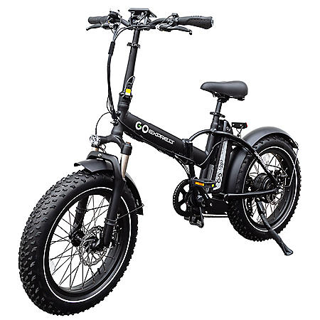 GoExpressBike All Terrain Electric Foldable Bicycle with 500W Removable 48V 10AH Lithium-Ion Battery