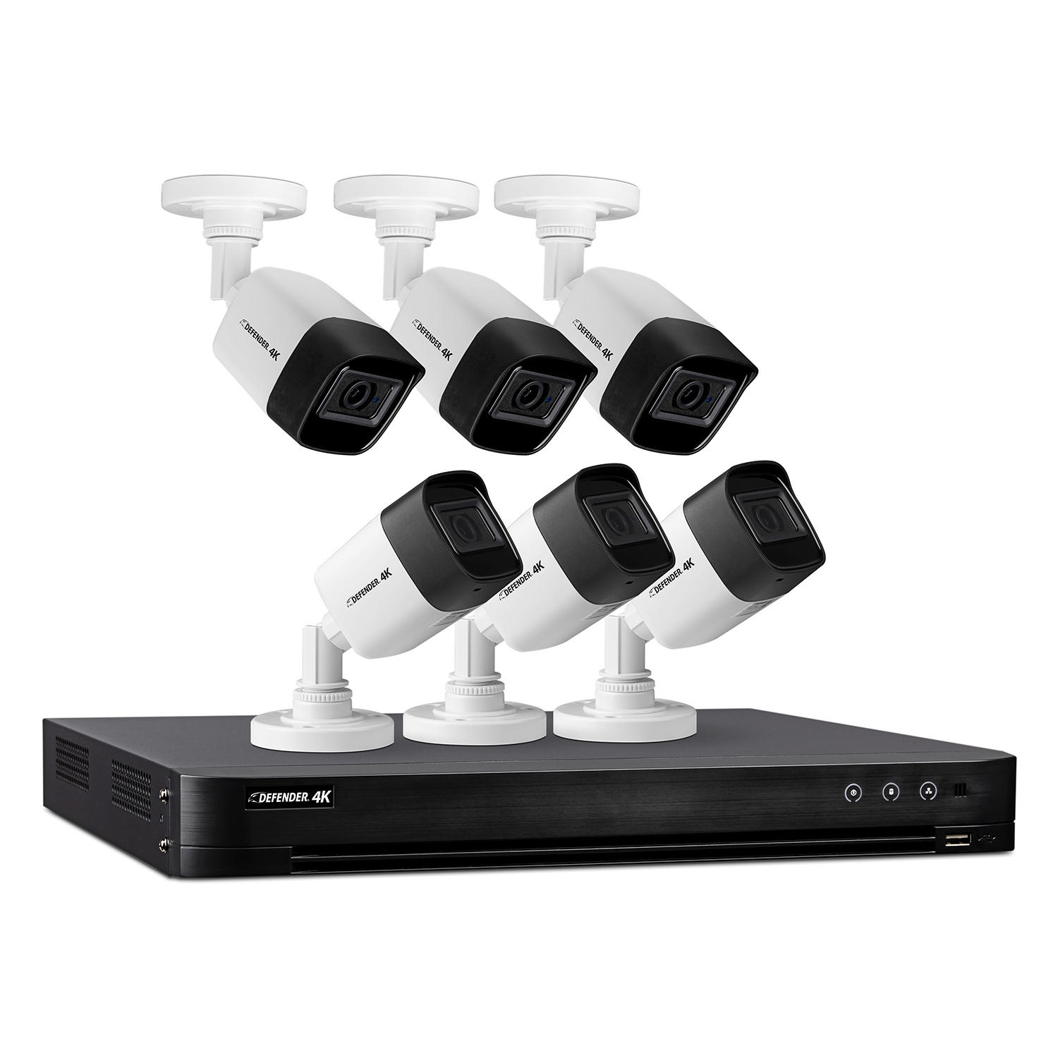 Defender Ultra HD 4K (8MP) 2TB Wired Security Camera System with 6 Night Vision Cameras