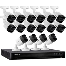 Defender Ultra HD 4K (8MP) 4TB Wired Security System with 16 Night Vision Cameras