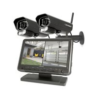 """Defender Phoenixm2  Digital Wireless Security System with 7"""" LCD Monitor and 2 Outdoor/Indoor Night Vision Cameras"""