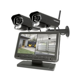 "Defender Phoenixm2  Digital Wireless Security System with 7"" LCD Monitor and 2 Outdoor/Indoor Night Vision Cameras"