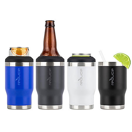 Reduce 4-in-1 Drink Cooler, 4 Pack (Assorted Colors)