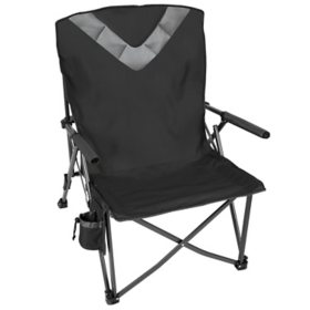 Kings River Oversized Compact Folding Hard Arm Chair