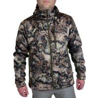 Habit Men's Lakefront Elk Hooded Sherpa Shell Hybrid Jacket
