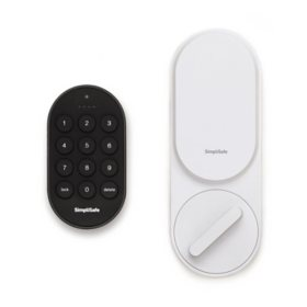 SimpliSafe Smart Lock + PIN Pad (White)