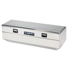 "Lund 56"" Aluminum Flush Mount Single Lid Diamond Plated Truck Tool Box - Silver"