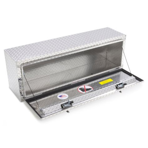 """Lund 60"""" Aluminum Top Mount Diamond Plated Truck Tool Box - Silver"""