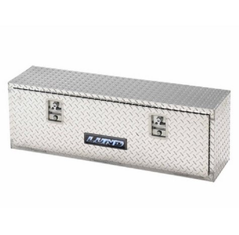 "Lund 72"" Aluminum Top Mount Diamond Plated Truck Tool Box - Silver"