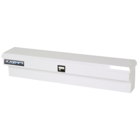 "Lund 70"" 16-Gauge Steel Single Lid Side Mount Box - White"