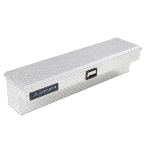 "Lund 48"" Aluminum Side Mount Diamond Plated Box - Silver"