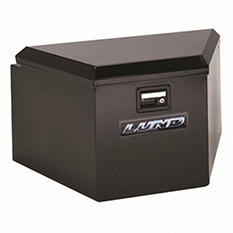 """Lund 21"""" 16-Gauge Steel Trailer Tongue Box - Black"""