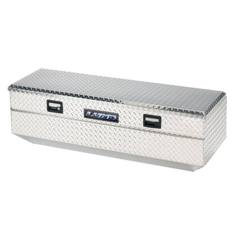 "Lund 48"" Aluminum Flush Mount Single Lid Diamond Plated Truck Tool Box - Silver"