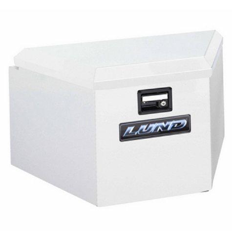 """Lund 34"""" 16-Gauge Steel Trailer Tongue Box - White"""