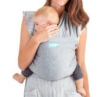 MOBY Fit Hybrid Carrier, Newborn to 30 lbs. (Gray)