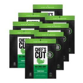 Chef's Cut Real Turkey Jerky, Teriyaki (8 pk.)