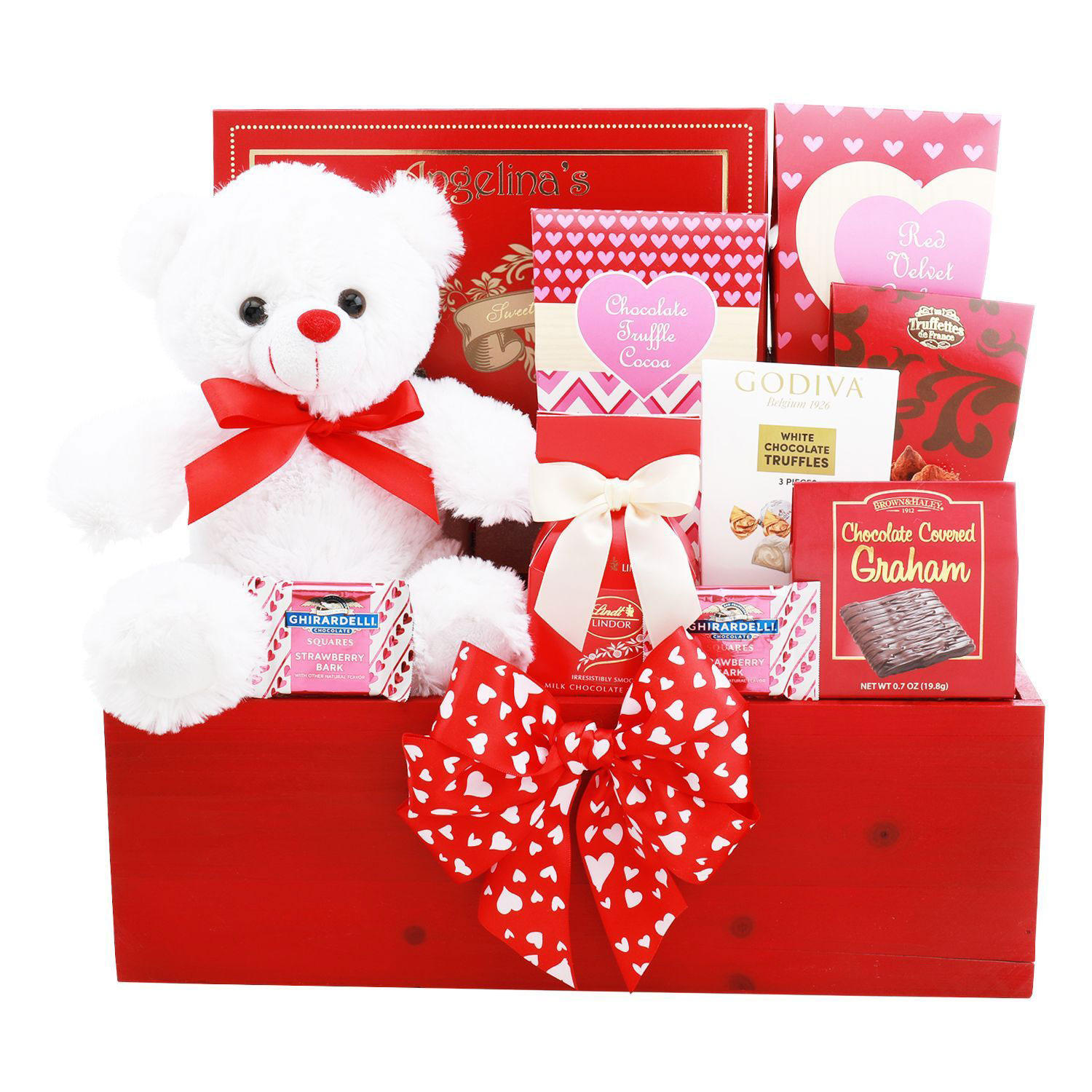Alder Creek Gift Baskets Red Love Gift Box