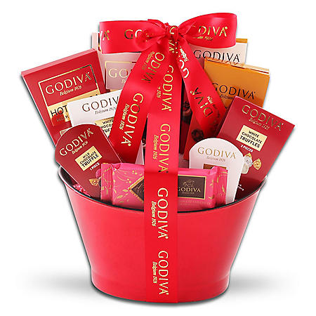 The Gifting Group Holiday Godiva (Red and Gold) Gift Basket