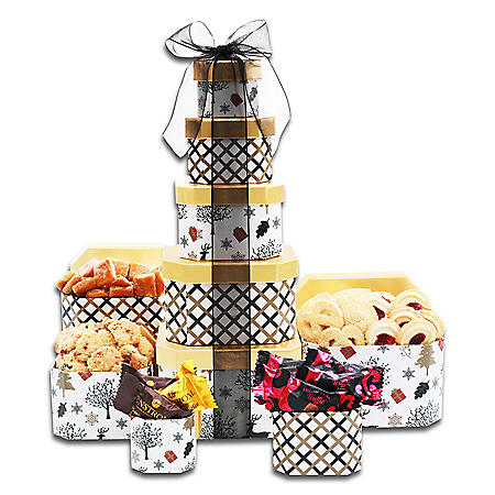 The Gifting Group Elegant Holiday Gold and Black Tower