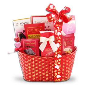 Sweets For My Valentine Gift Basket