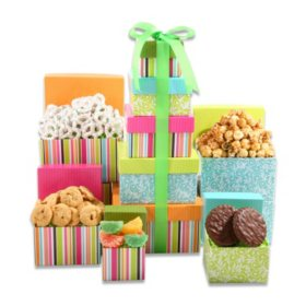 Spring Treats Gift Tower