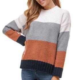 T&S Ladies Plush Stripe Sweater