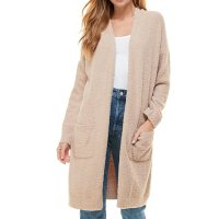 Deals on Thread & Supply Ladies Plush Cardigan