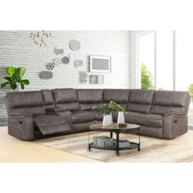 Theodore Reclining Fabric 6-Piece Reclining Sectional