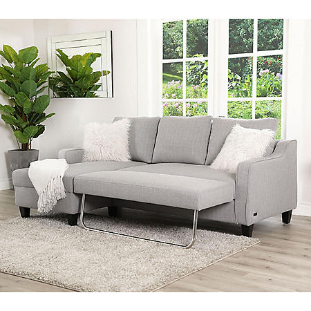 Lark Gray Convertible Sectional Sleeper