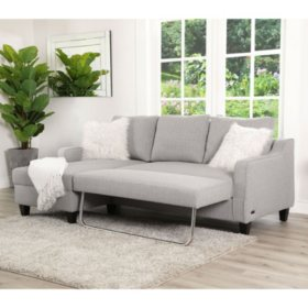 Brilliant Lark Gray Convertible Sectional Sleeper Sams Club Camellatalisay Diy Chair Ideas Camellatalisaycom