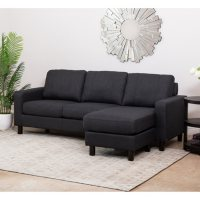 Deals on Kristen Fabric Reversible Sectional