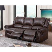 Abbyson Living Turner Triple Reclining Fabric Sofa Deals