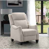 Calvin Fabric Pushback Recliner, Assorted Colors