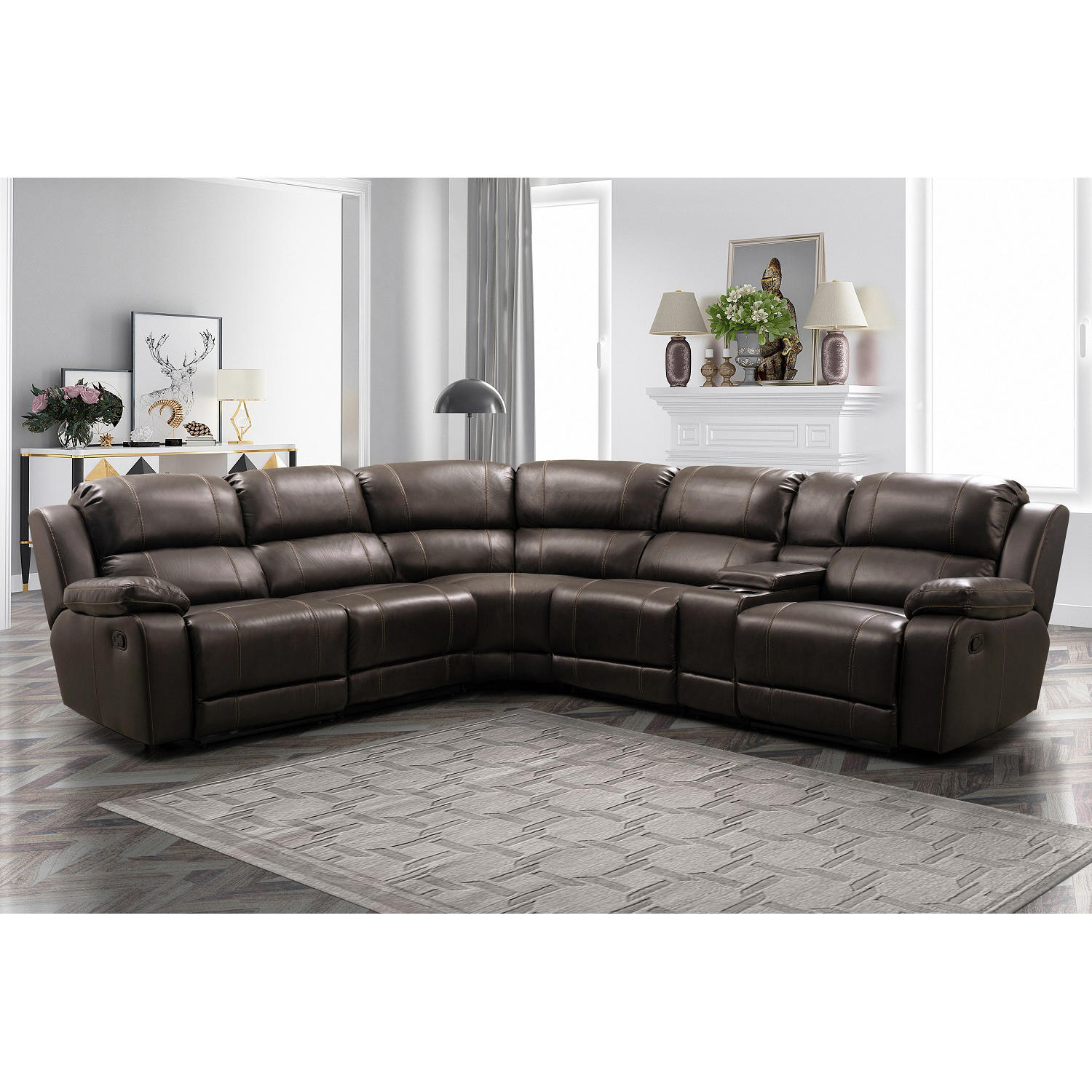 Abbyson Living Genesis 6-Piece Reclining Sectional