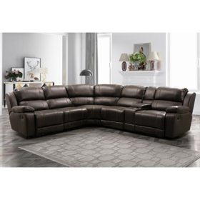 Genesis 6-Piece Reclining Sectional, Assorted Colors
