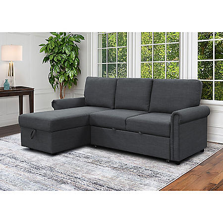 Hamilton Reversible Storage Sectional with Pullout Bed, Assorted Colors