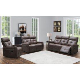 Cambridge 3-Piece Reclining Sofa, Loveseat and Chair Set