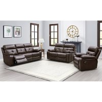 Augusta 3-Piece Reclining Sofa, Loveseat and Chair Set