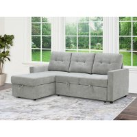 Kylie Reversible Storage Sectional with Pullout Bed, Assorted Colors