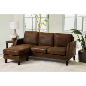 Liam Dark Brown Reversible Sofa Sectional