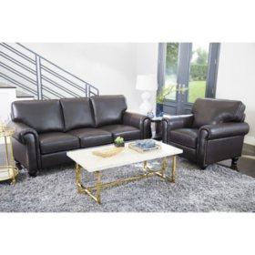 Maverick Top-Grain Leather Armchair and Sofa